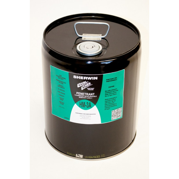 HM-3A Fluorescent Water Wash Penetrant 5 Gal.