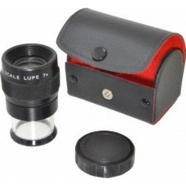"""7X Comparator w/#5 Redicle, 1"""" Diameter with Case"""
