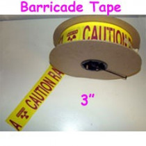 "3"" X 1000' Yellow/Magenta Barricade Tape"