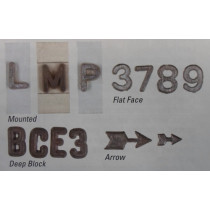"1/4"" Deep Block Unmounted Lead Number Kit ""0-9"""